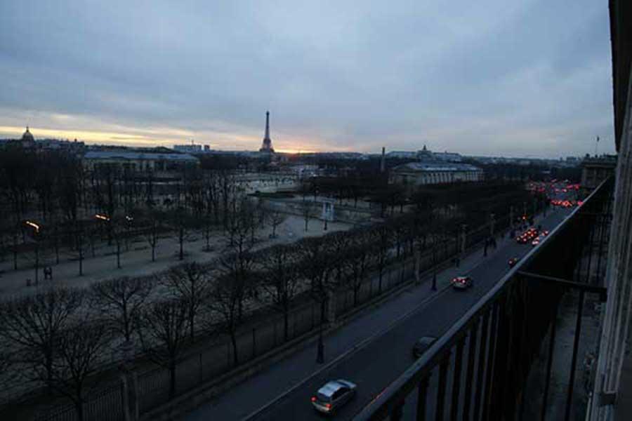 Vue sur Paris depuis l'hôtel Westin