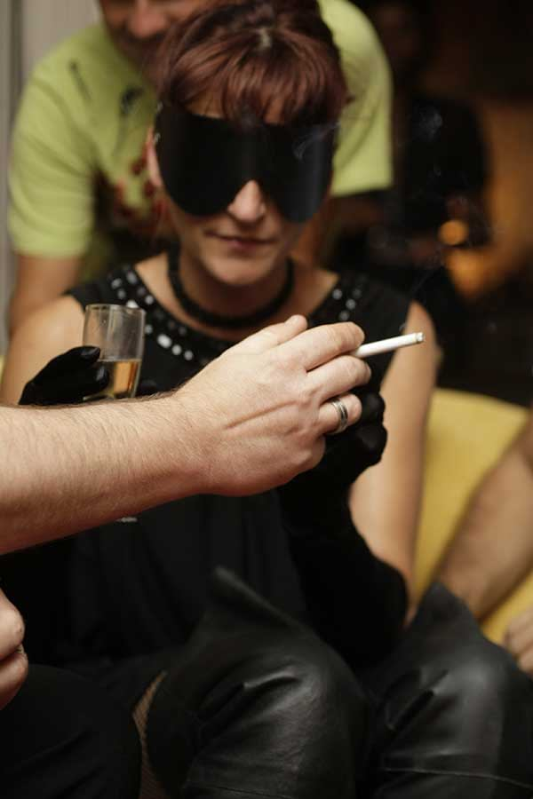 les préparatifs du gang bang